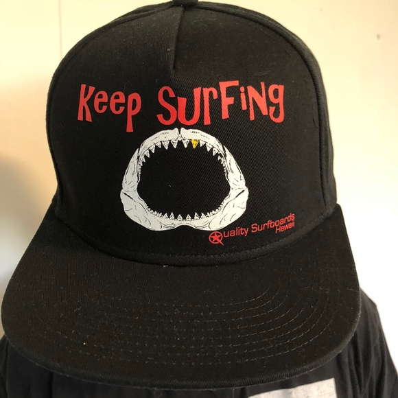 Other Keep Surfing Gold Shark Tooth Surf Brand Hat Poshmark